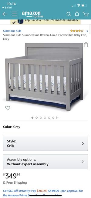 Simmons Kids baby crib, dresser, changing table attachment, changing of, and crib protectors, sold as a set! for Sale in Waddell, AZ