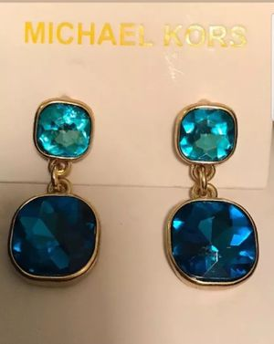 Michael kors blue sapphire earrings for Sale in Hastings, NE