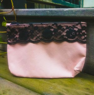 Pink Cosmetics Bag with Black Lace, by Ipsy for Sale in Salt Lake City, UT