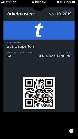 Gus Dapperton NYC Webster Hall 11/10/19 for Sale in New York, NY
