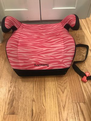 Harmony Juvenile Youth Backless Booster Car Seat, Pink Zebra for Sale in Rockville, MD