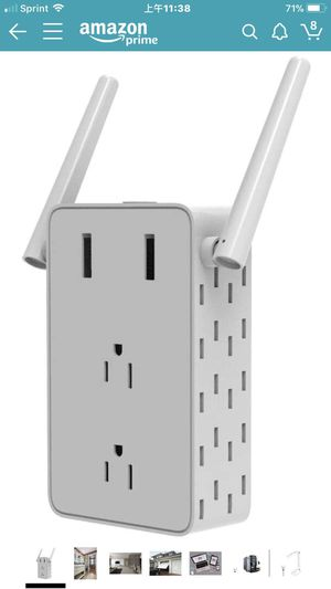 Wi-Fi Smart Plug Outlet, USB Charger Outlet, Mini Work with Alexa, Google Home, WiFi Internet Signal Booster, Extender Extender Wireless Repeater wit for Sale in Rancho Cucamonga, CA