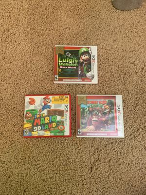 Nintendo 3DS Games (Mario sold): Luigi's Mansion, Donkey Kong Country Returns for Sale in Marietta, GA