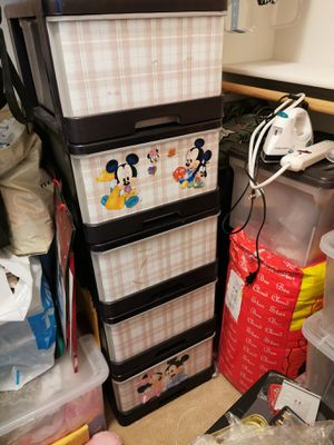 Plastic storage drawer (5 drawers) for Sale in Santee, CA