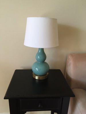 Aqua blue lamp whit shade very cute for Sale in Fairfax, VA