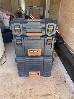 Ridgid Combo Tool Boxs  W/Wheels  for Sale in Nine Mile Falls, WA