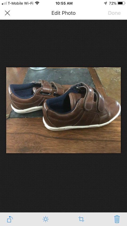 Boys brown dress shoes