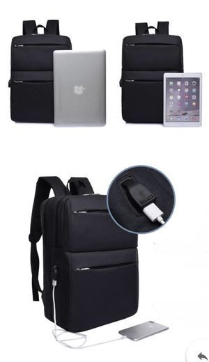 Brand New Black Smart Travel Backpack With USB Charging Port for Sale in Chicago, IL
