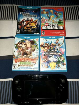 Nintendo Wii U Gamepad and Games for Sale in Hartford, CT