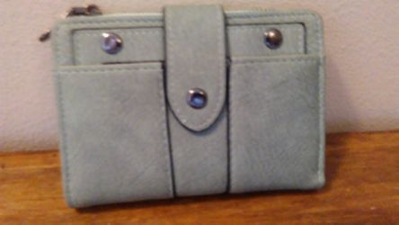 Small Leather Mint Green Wallet for Sale in Vancouver,  WA