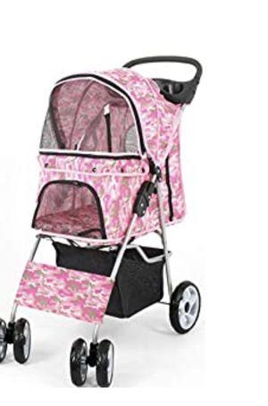 Pink Camo Dog Stroller for Sale in Huntington Beach, CA