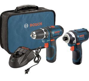 Bosch Power Tools Combo Kit CLPK22-120 - 12-Volt Cordless Tool Set (Drill/Driver and Impact Driver) with 2 Batteries for Sale in Covina, CA