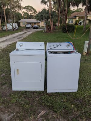 This washer and dryer free it is still working if you need it come & get it 140 17 the street Southwest Naples Florida for Sale in Naples, FL