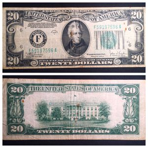 1934 C Series 20 Dollar Note Atlanta - Nice Circulated Condition for Sale in Batavia, IL