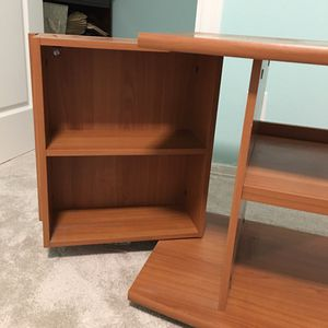 TV stand with shelves and 2 side-cabinets for media storage for Sale in Hillsboro, OR