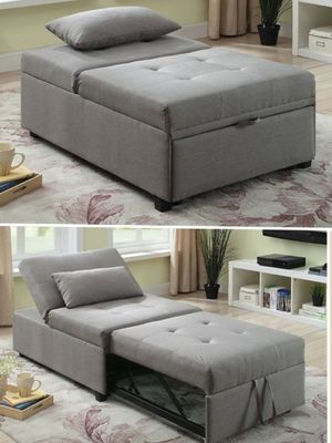 Transitional Gray Futon Sofa for Sale in Ontario, CA