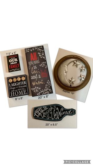 Fun wall decor for the home, mixed lot of 5 for Sale in Woodburn, OR