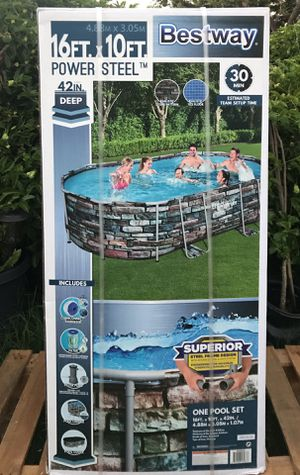 "Bestway 16' x 10' x 42"" Power Steel Swimming Pool for Sale in Chula Vista, CA"