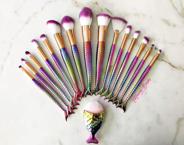 New mermaid set!! 16 brushes 💕🧜♀️💜
