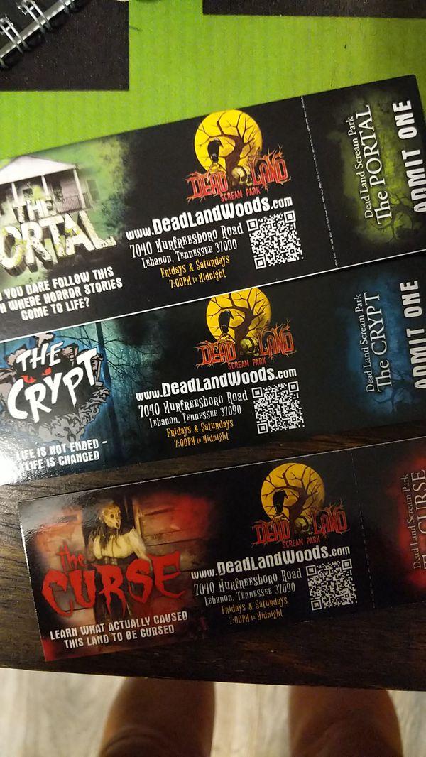 Dead land Woods Tickets