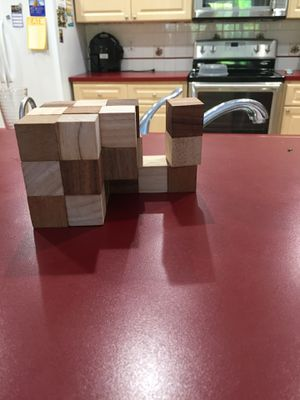 Wooden Snake Cube Puzzle for Sale in Miami, FL