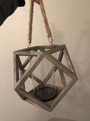 Beautiful hanging lantern or candle holder for Sale in Kirkland, WA