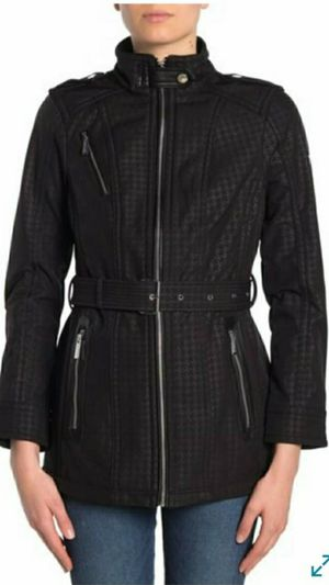 BRAND NEW MICHAEL KORS JACKET MISSY FAUX LEATHER TRIM BELTED JACKET SIZE SMAL MEDIUM LARGE X-LARGE FRIM $75 EACH for Sale in Fontana, CA
