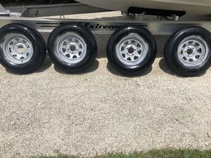 Trailer tires and wheels 205-75-15inch on 5-lug rims for Sale in Miami, FL