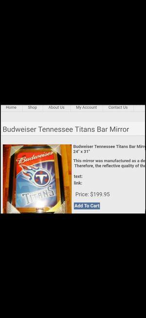 Tennessee Titans bar mirror collector's item for Sale in Murfreesboro, TN