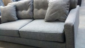Grey sofa & chaise by Ashley for Sale in US