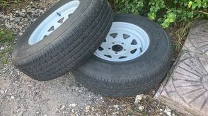 Trailer tires rims 2257515 for Sale in Homestead, FL