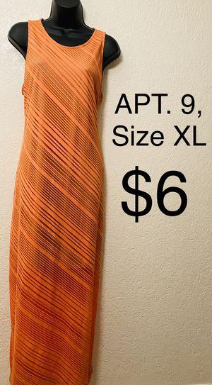 APT. 9, Maxi Orange Tiered Dress, Size XL for Sale in Phoenix, AZ