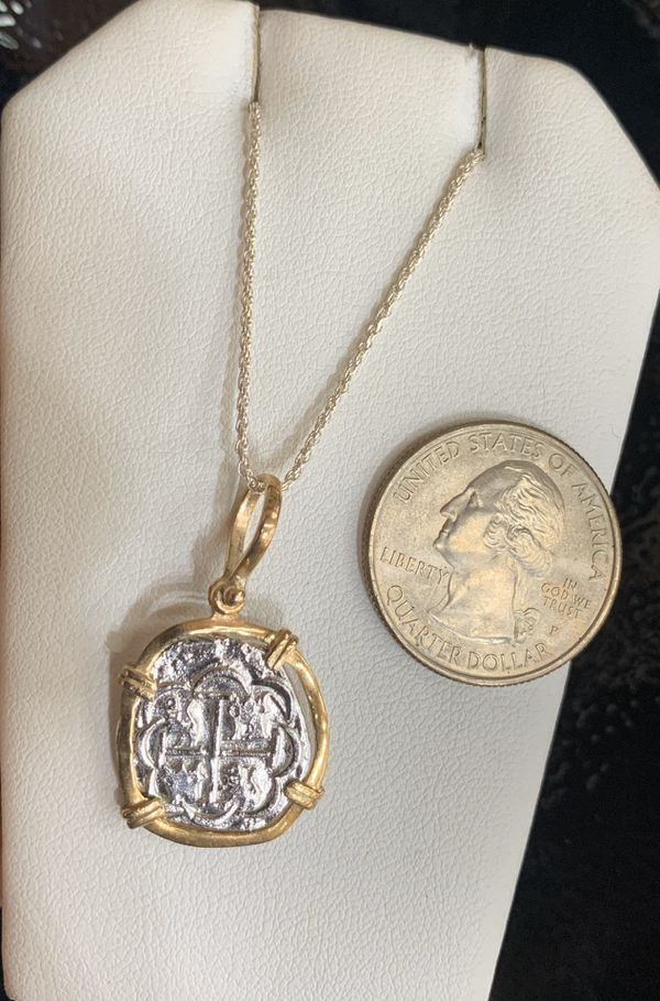 Beautiful Atocha coin necklace