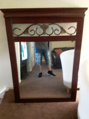 3 ft x 4 ft mirror hangs on wall. for Sale in Burlington, NJ