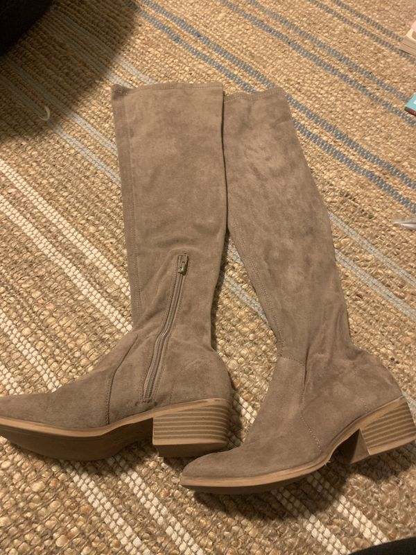 Women's tan suede boots
