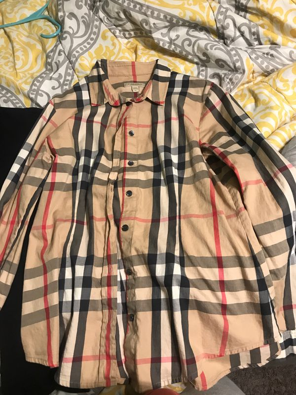 Burberry button down and collared shirt
