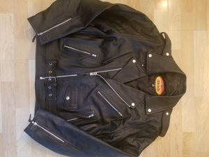 Leather biker jacket for Sale in Inver Grove Heights, MN