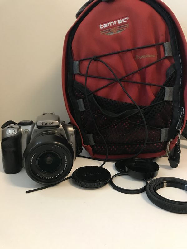 Canon 300D with 55mm lens