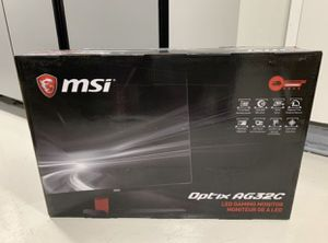 "MSI 32"" AG32C curved Gaming monitor 165hz, 1ms, fullHD, AMD freesync tech brand new sealed in box for Sale in Cypress, CA"