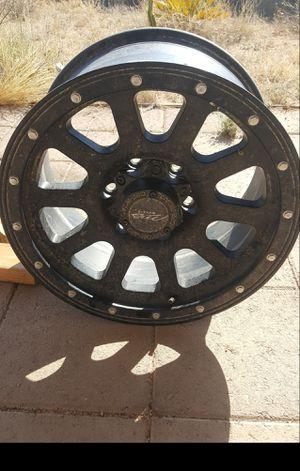 Single black tire rim for Sale in Tucson, AZ