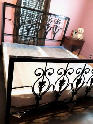 King size bed frame and box spring only for Sale in Weslaco, TX
