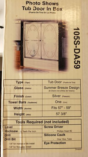 Brand New Shower Doors For Bathtub for Sale in Henderson, CO