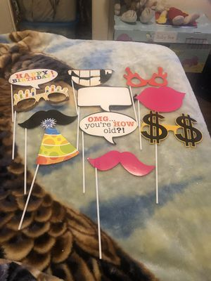 Birthday photo booth props for Sale in Lodi, NJ