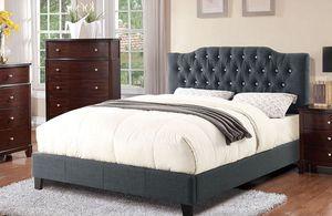 Full Upholstered Bed Frame, Grey for Sale in Norwalk, CA