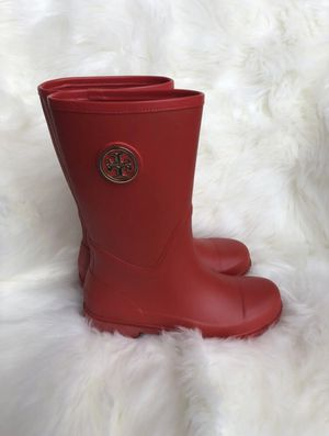 Tory Burch Rubber Red Rain boots for Sale in Frisco, TX