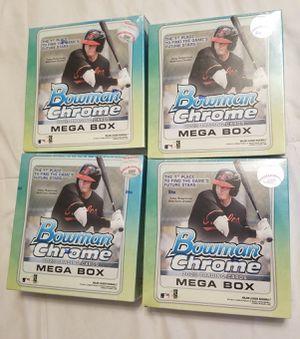 (4) Factory sealed 2020 Bowman Chrome baseball mega box (price per box) for Sale in Cave Creek, AZ