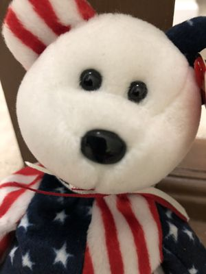Spangle Patriotic Beanie Baby Bear w Tag for Sale in Doylestown, PA