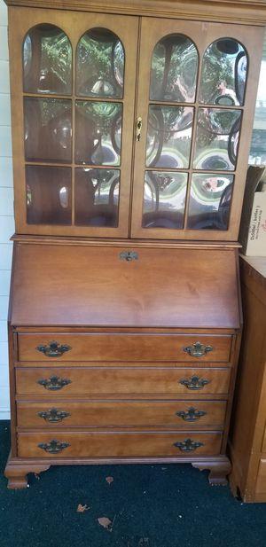 Antique Secretary Desk with Hutch for Sale in Cinnaminson, NJ