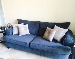 Super comfy blue sofa couch for Sale in West Palm Beach, FL