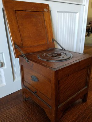 Antique mission oak potty chair with chamber for Sale in Lewisville, TX